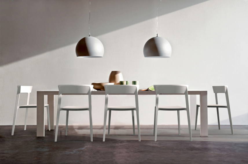SKIN sedie bianche - Calligaris - Woody Wood Design